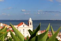 Chiesa Igreja de Santo Estevao a Lisbona Fotografia Stock