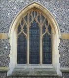 Chiesa incurvata Windows Immagine Stock Libera da Diritti