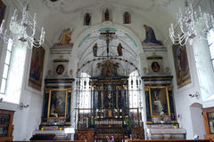 Chiesa interna Fotografia Stock