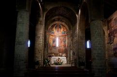 Chiesa interna di Santa Maria de Taull, Catalogna, Spagna Fotografia Stock Libera da Diritti