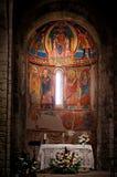 Chiesa interna di Santa Maria de Taull, Catalogna, Spagna Fotografie Stock