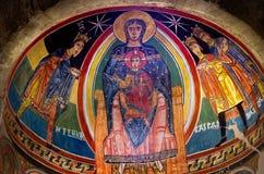 Chiesa interna di Santa Maria de Taull, Catalogna, Spagna Immagine Stock Libera da Diritti