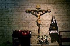 Chiesa interna di Santa Maria de Taull, Catalogna, Spagna Fotografia Stock