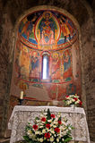 Chiesa interna di Santa Maria de Taull, Catalogna, Spagna Immagine Stock