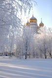 Chiesa in inverno Immagini Stock Libere da Diritti