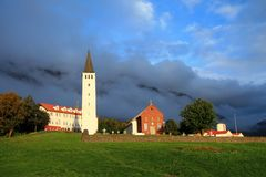 Chiesa in Islanda Fotografia Stock Libera da Diritti