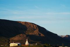 Chiesa in Islanda Immagine Stock Libera da Diritti