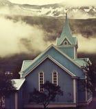Chiesa in Islanda Fotografie Stock Libere da Diritti