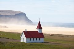 Chiesa in Islanda Fotografie Stock
