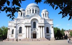 Chiesa a Kaunas Immagini Stock