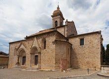 Chiesa La Collegiata di San Quirico D'Orcia Fotografie Stock Libere da Diritti