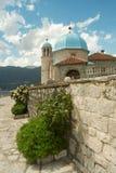 Chiesa la nostra signora della roccia nel Montenegro Immagini Stock Libere da Diritti