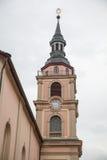 Chiesa in Ludwigsburg del centro fotografie stock libere da diritti