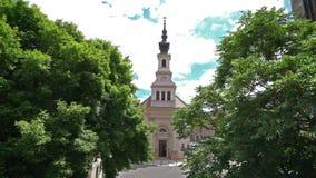 Chiesa luterana a Budapest stock footage