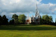 Chiesa luterana di architettura neogotica Immagine Stock