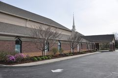 Chiesa luterana e scuola materna di Messiah ad Eagle Creek fotografie stock libere da diritti