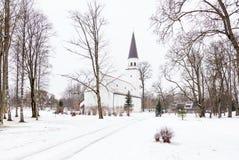 Chiesa luterana evangelica di Sigulda Fotografie Stock