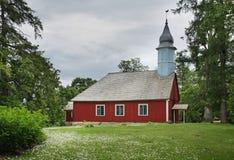 Chiesa luterana in Turaida vicino a Sigulda latvia Fotografia Stock Libera da Diritti