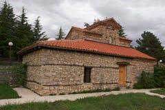 Chiesa in Macedonia nel lago Ocrida Immagine Stock