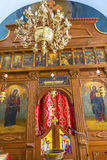 Chiesa Madaba Giordania del ` s di San Giorgio del candeliere dell'altare Fotografia Stock Libera da Diritti