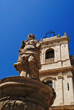 Chiesa madre. Statue of the chiesa madre in avola Royalty Free Stock Image