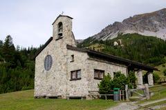 Chiesa in Malbun, Lichtenstein Immagini Stock Libere da Diritti