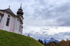Chiesa Maria Gern di pellegrinaggio in Berchtesgaden Fotografia Stock Libera da Diritti