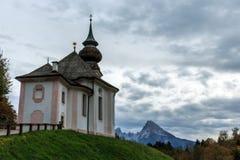 Chiesa Maria Gern di pellegrinaggio in Berchtesgaden Fotografie Stock