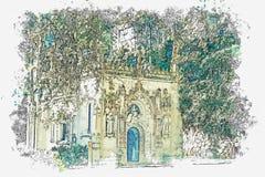 Chiesa massonica antica immagine stock