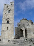 Chiesa Matrice - Erice. Historic village Erice in Sicily, Italy Royalty Free Stock Photos
