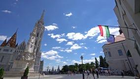 chiesa Matthias di Budapest video d archivio