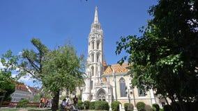 chiesa Matthias di Budapest stock footage