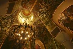 Chiesa medioevale - interiore Fotografie Stock Libere da Diritti