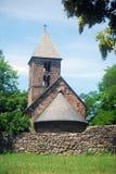 Chiesa medioevale, Nagyborzsony, Ungheria Fotografia Stock Libera da Diritti
