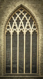 Chiesa medioevale Windows Immagini Stock