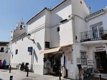 Chiesa a Mijas nelle montagne sopra Costa del Sol in Spagna Fotografie Stock