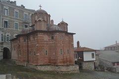 Chiesa in montagna di Athos Fotografie Stock