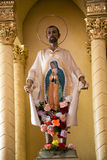 Chiesa Morelia Messico di Guadalupita della statua Fotografia Stock Libera da Diritti