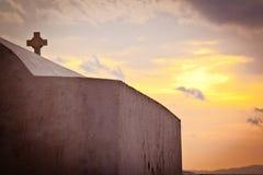 Chiesa in Mykonos, Grecia Fotografia Stock