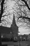 Chiesa a natale Fotografia Stock Libera da Diritti
