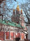 Chiesa nel convento di Novodevichy Immagine Stock Libera da Diritti