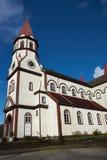 Chiesa nel distretto cileno del lago Immagini Stock