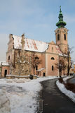 Chiesa nel hainburg Fotografie Stock
