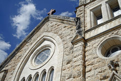 Chiesa nel paese della collina del Texas Fotografia Stock Libera da Diritti
