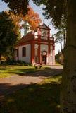 Chiesa nel parco della località di soggiorno di salute immagine stock libera da diritti