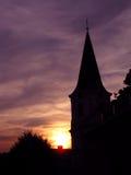 Chiesa nel tramonto Immagini Stock Libere da Diritti