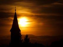 Chiesa nel tramonto Fotografia Stock Libera da Diritti