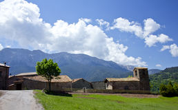 Chiesa nel villaggio di Cava Immagini Stock Libere da Diritti
