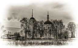 Chiesa nel villaggio di Voskresenskoe Fotografia Stock