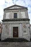 Chiesa nel villaggio medievale di Agnone Immagine Stock Libera da Diritti